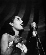 Microphone Posters - Billie Holiday (1915-1959) Poster by Granger