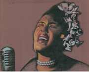 African-american Drawings Posters - Billie Holiday Poster by Keith Burnette