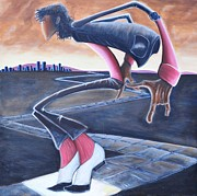 African-american Paintings - Billie Jean by Tu-Kwon Thomas