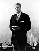 1950s Fashion Prints - Billy Graham . Evangelist With Bible Print by Everett