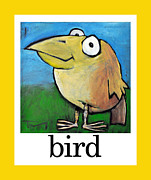 Cartoony Prints - Bird Poster Print by Tim Nyberg