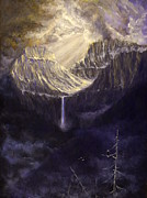 National Park Paintings - Bird Woman Falls by James Corwin