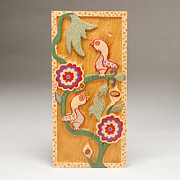 Folk Art Reliefs Prints - Birds and Blossoms Print by James Neill