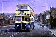 Bus Paintings - Birmingham Guy by Mike  Jeffries