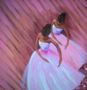 Black History Paintings - Black Ballet by Janie McGee