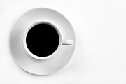 Minimalist Espresso Framed Prints - Black Coffee Framed Print by Gert Lavsen