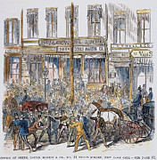 Bank Panic Prints - Black Friday, 1869 Print by Granger