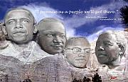 Barack Obama Digital Art Prints - Black Rushmore Print by Phoenix Jackson
