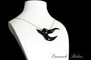 Video Jewelry - BLACK  SWALLOW Rondine Nera Unique Jewel of the Collection Dedicated to Amy Winehouse by Emanuele Rubini