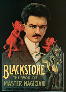 Tricks Painting Posters - Blackstone the Worlds Master Magician Poster by Unknown