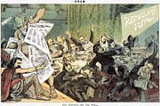 Belshazzar Photo Prints - Blaine Cartoon, 1884 Print by Granger