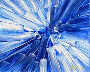 Collectibles Paintings - Blue and White   by Buddy Paul