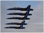 Blue Angel Photos Posters - Blue Angels Poster by Michelle Faulkner
