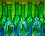 Ranjini Kandasamy Art - Blue bottles by Ranjini Kandasamy