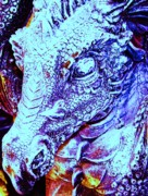 Phantasie Digital Art Metal Prints - Blue-Dragon Metal Print by Ramon Labusch