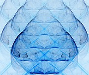 Unreal Prints - Blue Glass Print by Yali Shi