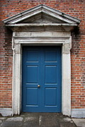 Entrance Door Art - Blue Irish Door by Christiane Schulze