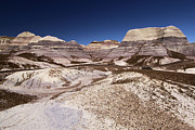 Petrified Forest National Park Framed Prints - Blue Mesa Landscape Framed Print by Adam Jewell