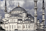 Muslim Posters - Blue Mosque Poster by Joan Carroll