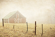 Haze Metal Prints - Blue Ridge Farm Metal Print by Darren Fisher