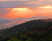 Blue Ridge Sunset Print by Bob and Nancy Kendrick