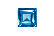 Square Jewelry Framed Prints - Blue Sapphire Isolated Framed Print by Atiketta Sangasaeng