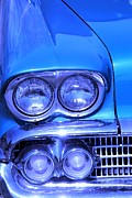 Blue Car Framed Prints - Blue  Framed Print by Sophie Vigneault