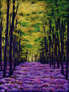 Vibrant Paintings - Bluebell Vista by Johnathan Harris