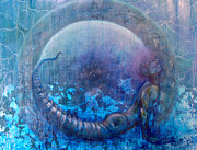 Dreamscape Mixed Media Metal Prints - Bluestargate Metal Print by Ashley Kujan