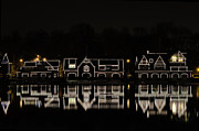 Winter Night Prints - Boathouse Row - Philadelphia Print by Brendan Reals