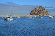 Morro Bay Posters - Boats And Blue Water Poster by Heidi Smith