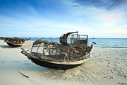 Vietnamese Framed Prints - Boats Framed Print by MotHaiBaPhoto Prints