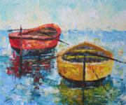 South Of France Paintings - Boats of Provence  by Frederic Payet