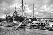 Repairs Metal Prints - Boats on the hard Pin Mill Metal Print by Gary Eason