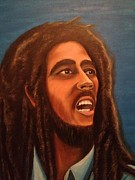 Little Birds Paintings - Bob Marley by Biren Biren