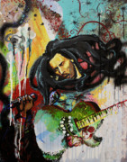 Bob Marley Abstract Prints - Bob Marley Print by Lauren Penha