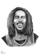 Bob Drawings - Bob Marley by Murphy Elliott