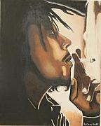 Famous Musicians Painting Originals - Bob Marley by Patrick Hunt