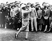 Golf Pants Prints - Bobby Jones At The British Amateur Golf Print by Everett