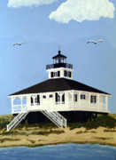 Lighthouse Paintings - Boca Grande Inlet Lighthouse by Frederic Kohli