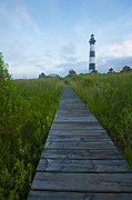 Marsh Path Framed Prints - Bodie Island Lighthouse at dusk Framed Print by Matt Tilghman