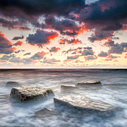 Twilight Framed Prints - Boiling Sea Framed Print by Evgeni Dinev