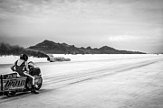 White Images Posters - Bonneville Salt Flats Speed Week Image Poster by Holly Martin