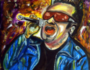 U2 Painting Metal Prints - Bono  Metal Print by Azalea Millet