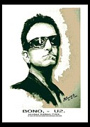 Bono Digital Art - Bono U2 by Liam O Conaire