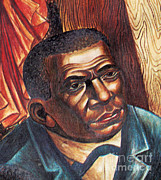 Slavery Art - Booker T. Washington, African-american by Photo Researchers