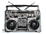 Boom Box Framed Prints - Boom Framed Print by Russell Pierce