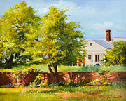 Plantation Paintings - Boone Hall Plantation by Jane Woodward