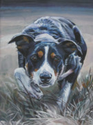 Collie Painting Framed Prints - Border Collie Framed Print by Lee Ann Shepard