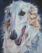 Pup Framed Prints - Borzoi Framed Print by Lee Ann Shepard